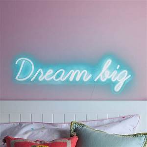 Neon Light Typeface Dream Big Neon Sign Wall Light By Lights4fun