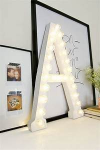 How to light up a room39s decor with marquee letters for S letter decor