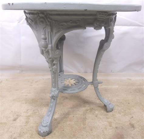 cast iron painted pub table sold
