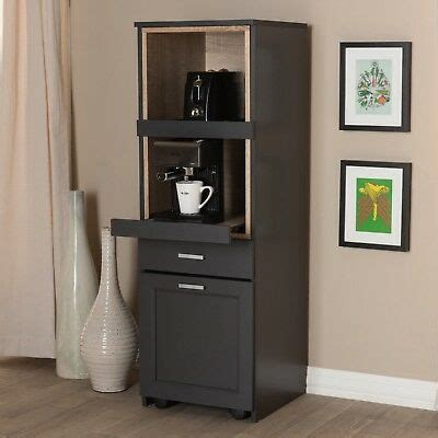 tall narrow kitchen cabinet cupboard coffee nook pull
