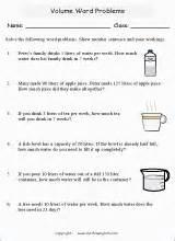 volume  capacity mathematics worksheets  primary