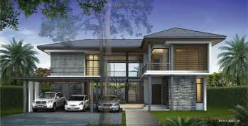 Delightful Tropical House Designs by Appealing Professional Architectural Visualization Design