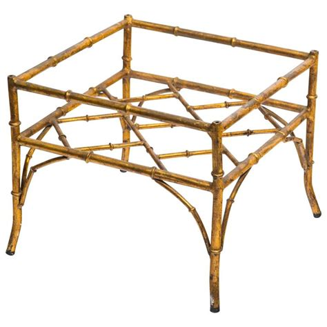 faux bamboo table l italian gilt metal faux bamboo side table for sale at 1stdibs