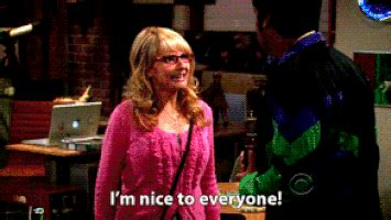 melissa rauch kind the big bang theory bernadette gif find share on giphy