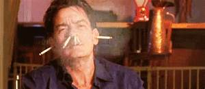 Charlie Sheen Smoking GIF - Find & Share on GIPHY