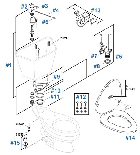 Kohler Wellworth Series Toilet Repair Parts