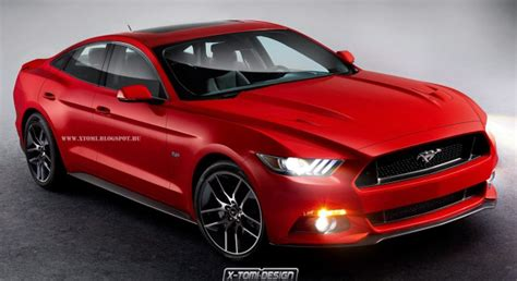 4 door mustang for all new 2015 ford mustang rendered as a four door coupe