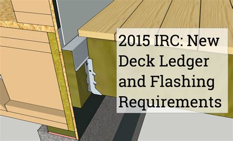 porch deck ledger to buildings deck code requirements protradecraft