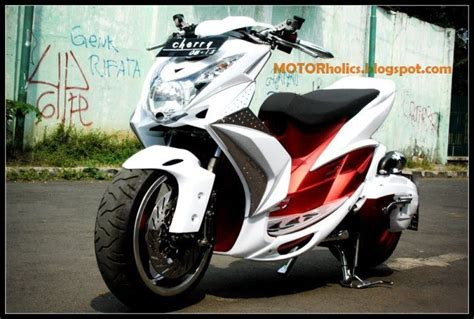 Modifikasi Mio Soul Putih by Modifikasi Mio Soul Putih Modifikasi Motor Kawasaki
