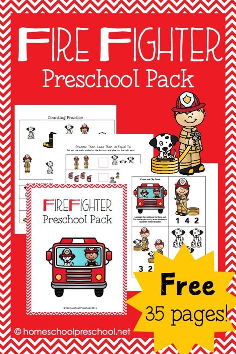 fireman activities for preschool free firefighter preschool pack free homeschool deals 629