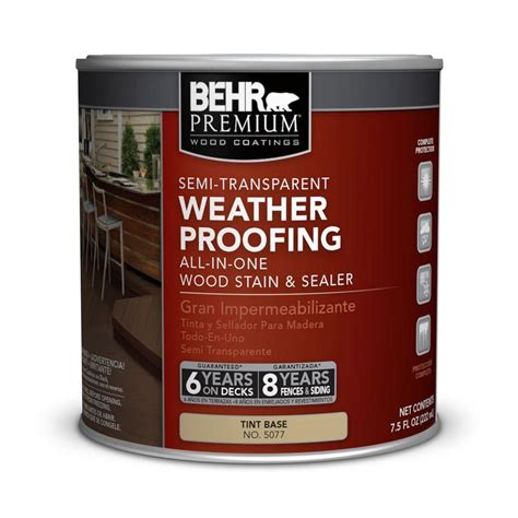 Behr Premium Deck Stain Home Depot by Behr Premium 8 Oz Tintable Semi Transparent