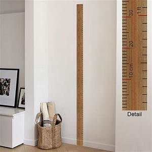 Big Chart Paper Ruler Design Height Measure Wall Stickers For Kids Rooms