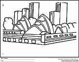 Sydney Coloring Pages Australia Opera Sheets Designlooter 26kb Ginormasource sketch template