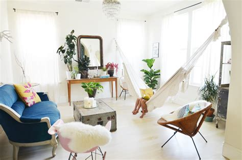 How To Hang A Hammock On An Apartment Balcony by Bring The Outdoors In Living Room Hammocks Hanging