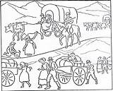 Pioneer Coloring Pages Lds Activity History Sheets sketch template