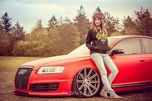 Red Audi A6 and Girl wallpaper | cars | Wallpaper Better
