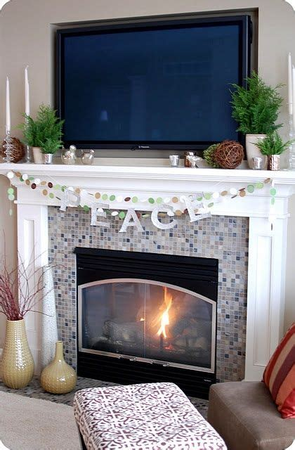 mantel  tv decorating ideas   idea  putting