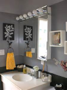 Yellow And Gray Bathroom Wall by Gray Bathroom Decor Black Grey And Yellow Bathroom Black