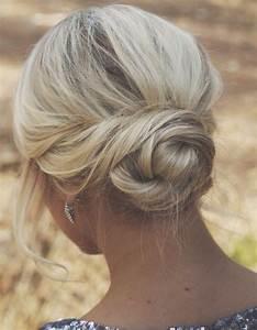 Chignon Cheveux Mi Long : coiffure pour cheveux mi longs facile automne hiver 2016 ~ Melissatoandfro.com Idées de Décoration