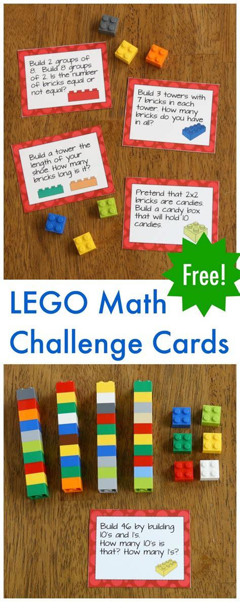 lego math printable challenge cards frugal fun  boys