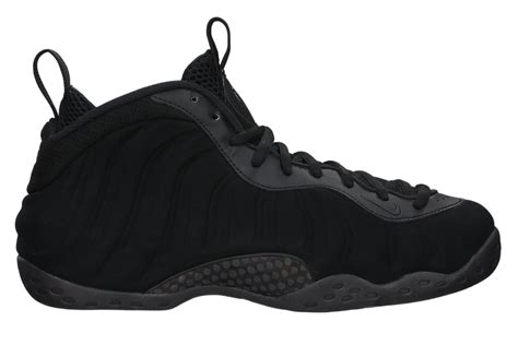 lyst nike air foamposite  triple black sneakers