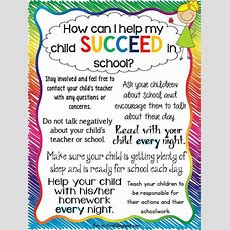 Tips For Parentshow To Help My Child Succeed  Fun In First