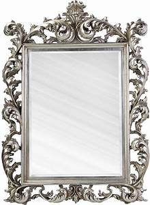 Large Silver Rococo Mirror French Aged Mirrors