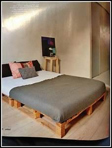 Bett Auf Paletten : bett selber bauen paletten anleitung ~ Michelbontemps.com Haus und Dekorationen