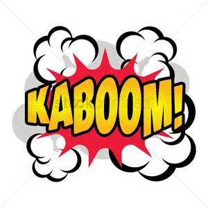 kã hlschrank retro design comic effect kaboom vector image 1607273 stockunlimited