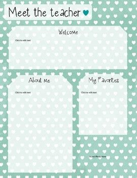 meet the template mint meet the template editable