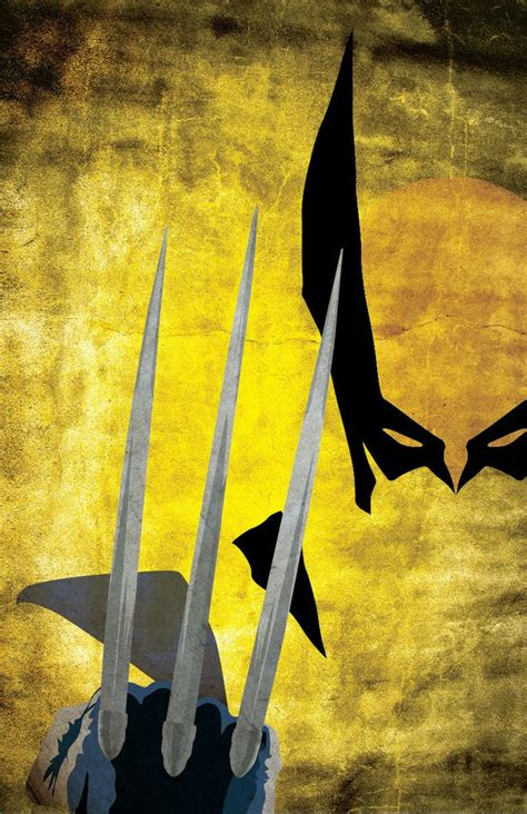 wolverine xmen comic inspired character poster