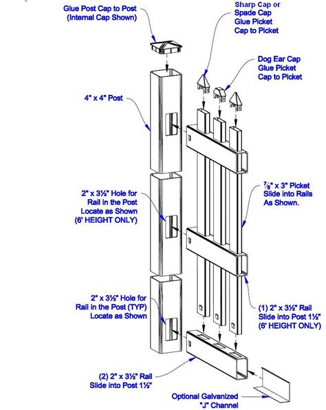 fence sizes pin picket dog ear dover posts on pinterest