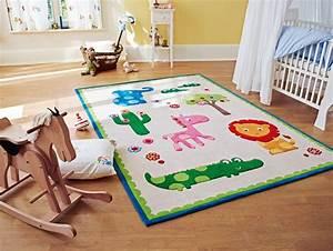 Tapis Chambre Bébé : tapis pour chambre de b b beige zoo esprit home ~ Teatrodelosmanantiales.com Idées de Décoration