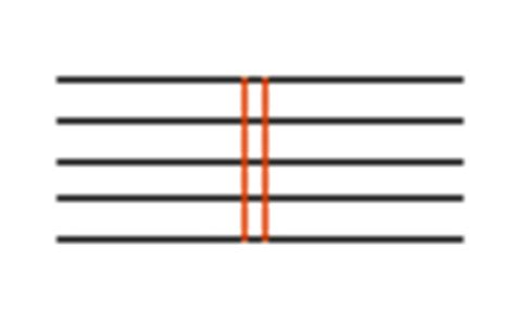 Double bar music available on the site are effective and loud enough for both indoor and outdoor events and are operated through either battery or charged electronically. OnMusic Dictionary - Music symbols