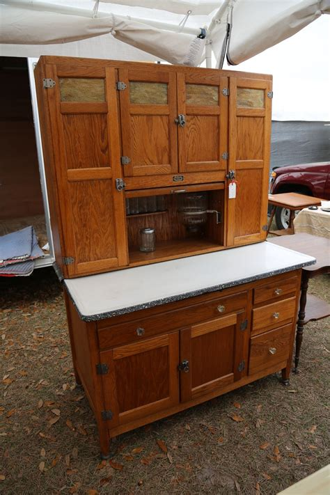 Vintage Kitchen Furniture by Wide Sellers Cabinet With Slag Glass Hoosier
