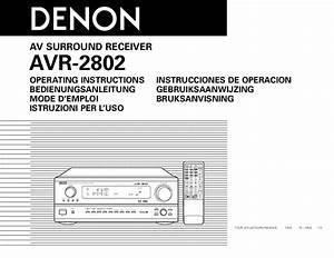 Mode D U0026 39 Emploi Denon Avr-2802