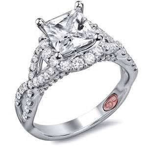 wedding rings for princess cut twisted princess cut engagement rings demarco bridal jewelry official