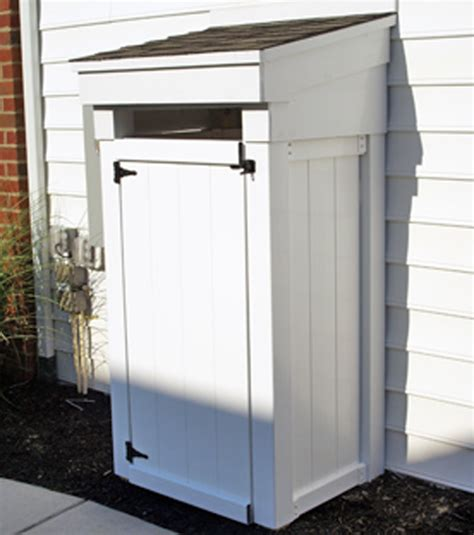 outdoor garbage  enclosure plans   learn diy