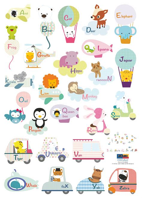 sticker animaux anglais stickers muraux enfants
