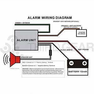 12v Motorcycle Compact Diy Alarm System