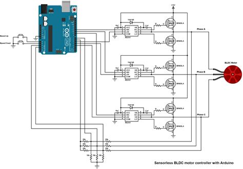 brushless dc motor controller using arduino and ir2101 simple projects
