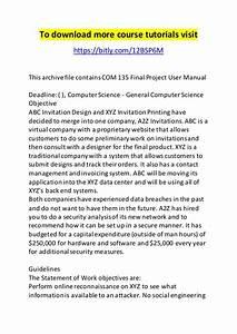 Com 135 Final Project User Manual