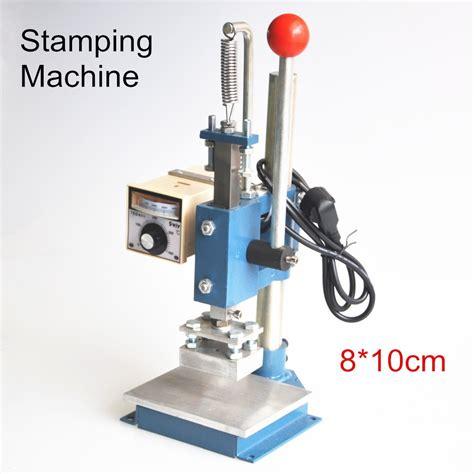 set manual hot foil stamping machine foil stamper leather