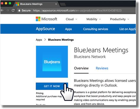 Office 365 Outlook User Guide by Bluejeans Outlook Add In For Office 365 End User