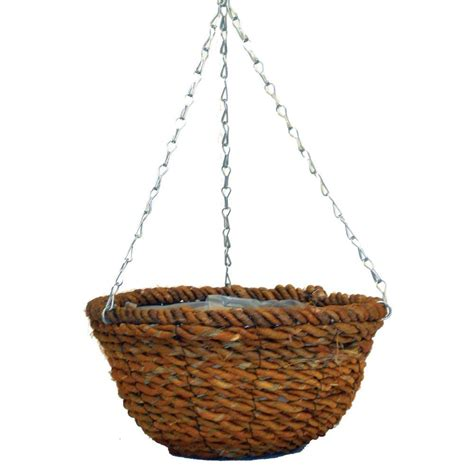 home depot hanging ls pride garden products 14 in round hanging planter