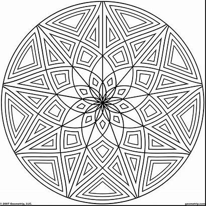 Coloring Pages Geometric Designs Graphic Cool Mandala