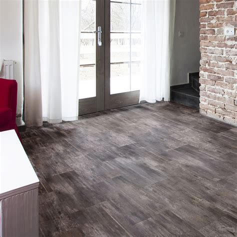 grey slate effect waterproof luxury vinyl click flooring