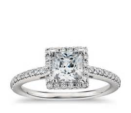 cut halo engagement rings princess cut halo engagement ring in platinum blue nile