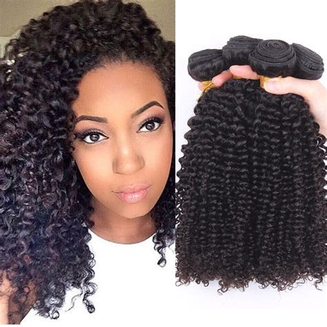virgin malaysian kinky curly hair weave extensions 3pcs