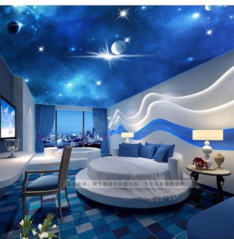 3d stereoscopic large living room ceiling mural bedroom zenith woven wallpaper ktv